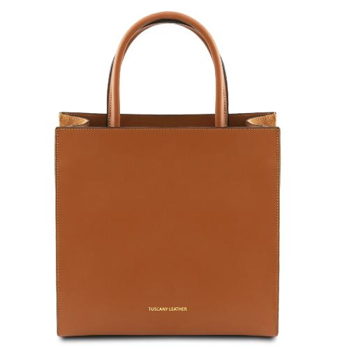 Sac Cabas Vertical Cuir - Tuscany Leather -