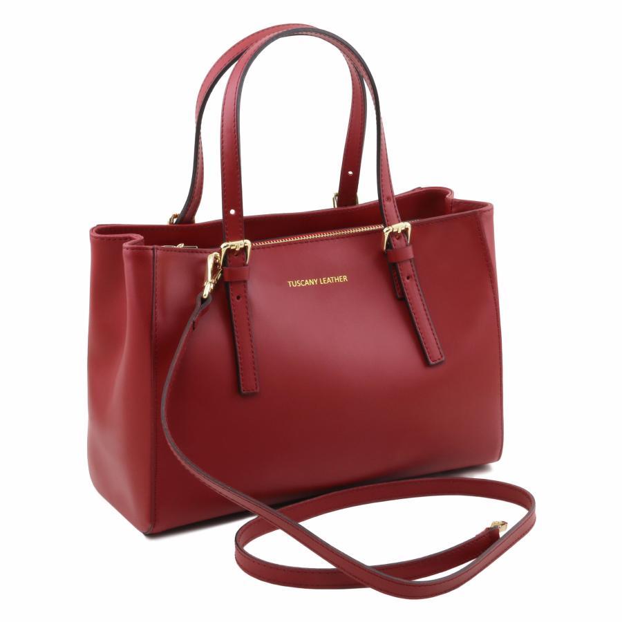 89def8c57b Sac Cuir Cabas Femme Noir - Tuscany Leather -