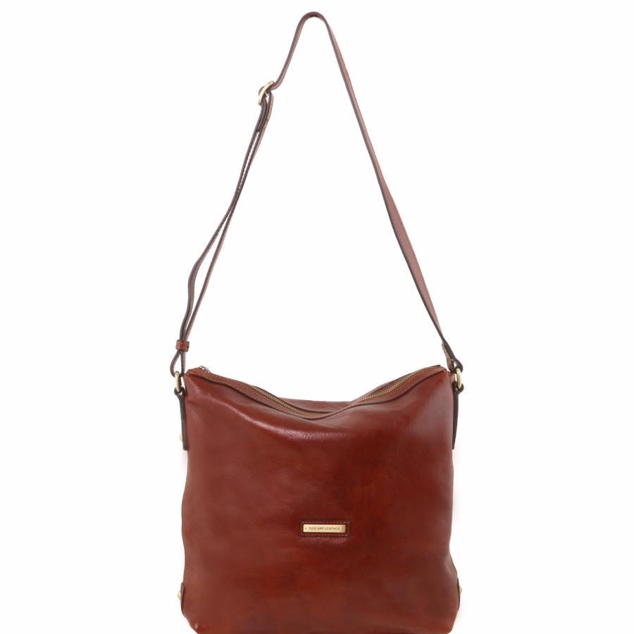 soldes sac bandouli re classique femme cuir tuscany leather. Black Bedroom Furniture Sets. Home Design Ideas