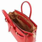 Sac Cuir Sangle Femme Rouge  - Tuscany Leather -