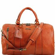 Sac de Voyage Cuir Souple Avion Miel -Tuscany Leather-
