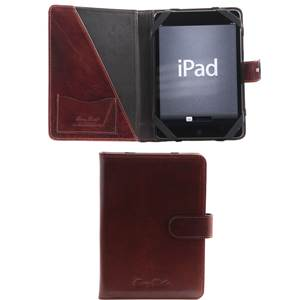 Housse pour Tablette Cuir Sergio Marron  -Tuscany Leather-