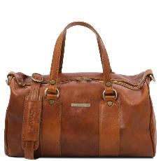 Grand Sac Cuir Souple Femme Miel - Tuscany Leather