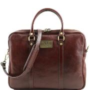 Sac Ordinateur Cuir Femme Homme Marron - Tuscany Leather -