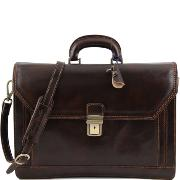 Cartable Cuir 3 Compartiments Homme ou Femme-Tuscany Leather-