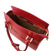 Sac à Main Cuir Femme Rouge - Tuscany Leather -