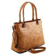 Sac Cuir Motifs Femme Marron - Tuscany Leather -