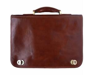 Cartable Cuir 2 compartiments Marron -Florence Leather Market-
