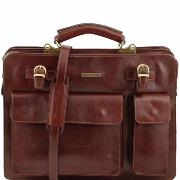 Sacoche Cuir Vintage Femme  Homme Marron -Tuscany Leather-