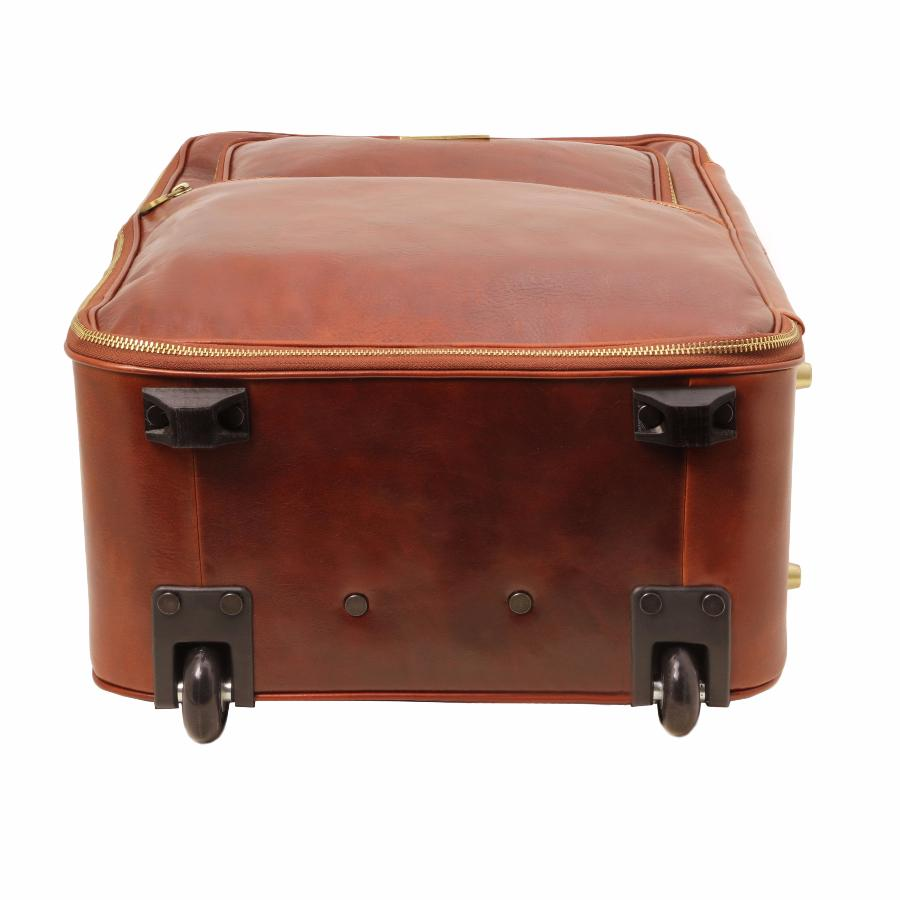Valise trolley cuir cabine avion tuscany leather - Valise roulette cabine ...