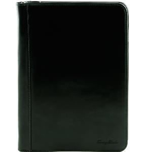Conférencier Porte-document Cuir Noir -Tuscany Leather-