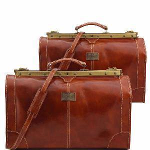 Tuscany Leather - Madrid - Sac de voyage en cuir - Petit modèle Rouge - TL1023/4 fmL8WH