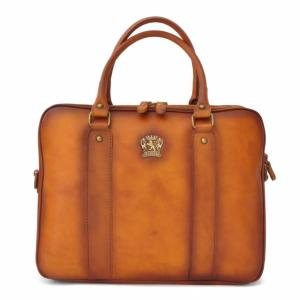 Cartable Business Cuir Italie Magliano Camel - Pratesi -