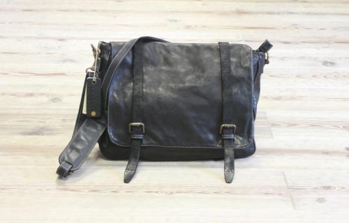 hot-vente authentique sélectionner pour dernier la plus récente technologie Sac Besace Vintage Cuir Noir - Aspell -