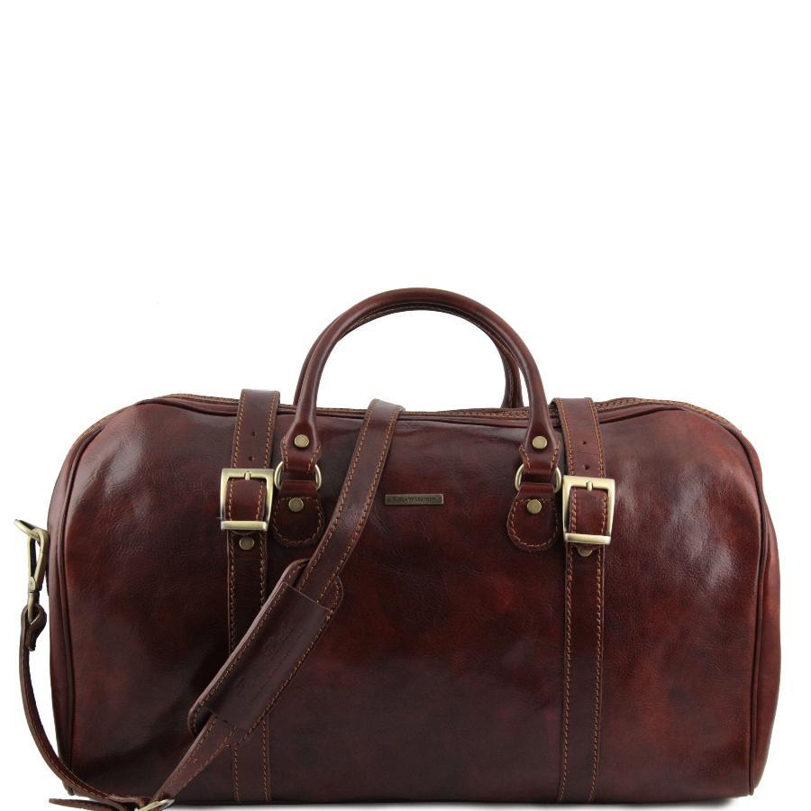 Grand Sac de Voyage Cuir de Qualité Marron Tuscany Leather