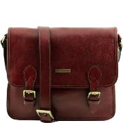 Sac Besace Vintage Cuir Homme Marron  -Tuscany leather -