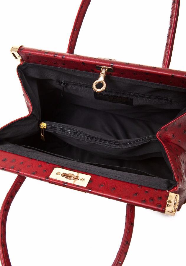 sac cuir pas cher impression autruche lucy. Black Bedroom Furniture Sets. Home Design Ideas