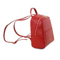 Sac à Dos Cuir Femme Rouge  - Tuscany Leather -
