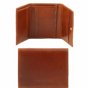 Portefeuille Cuir Homme 3 Volets Miel - Tuscany Leather-