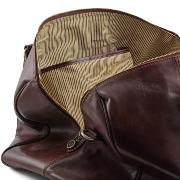 Grand Sac de Voyage Cuir Marron avec Poches -Tuscany Leather-
