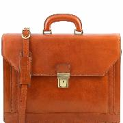 Cartable Cuir Cadre ou Prof lib 3 compartiments -Tuscany Leather-