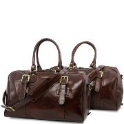 Ensemble de 2 Sacs de Voyage Cuir - Tuscany Leather -