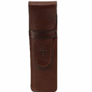 Etui Cuir pour Stylo Marron  -Tuscany Leather-