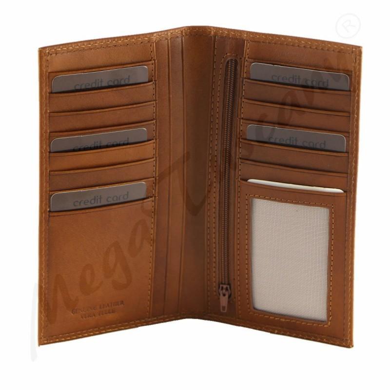 porte carte cuir compartiments homme femme mega tuscany. Black Bedroom Furniture Sets. Home Design Ideas