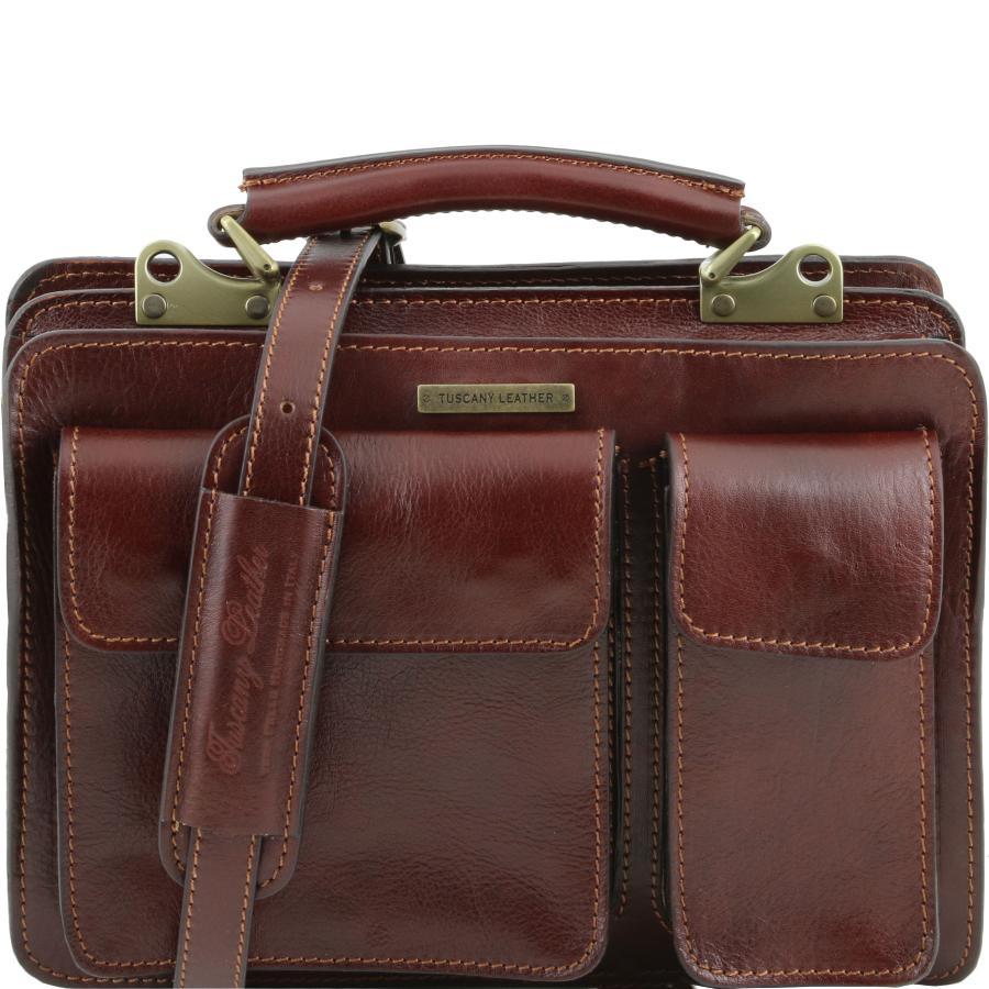 80ce5b282a Sac Cartable Cuir Femme Marron - Tuscany Leather -