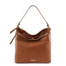 Sac Epaule Cuir Souple Femme Camel - Tuscany Leather -