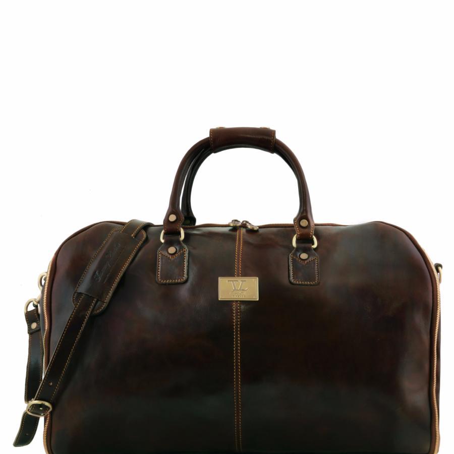Tuscany Leather - sacs de voyage en cuir - Marron foncé VOSYocAS5c