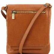 Sac Bandoulière Cuir Mixte Camel - Tusany Leather -