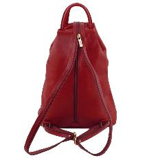 Sac à Dos Ville Cuir Rouge Femme - Tuscany Leather -