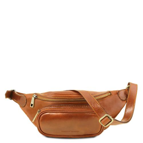 Sac Banane Cuir Homme Camel - Tuscany Leather -