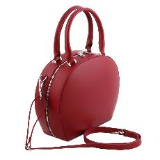 Sac Cuir Rond Femme Rouge- Tuscany Leather -