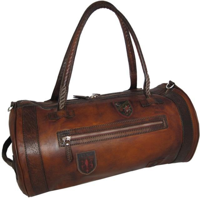 sac de voyage cuir vintage homme pratesi. Black Bedroom Furniture Sets. Home Design Ideas