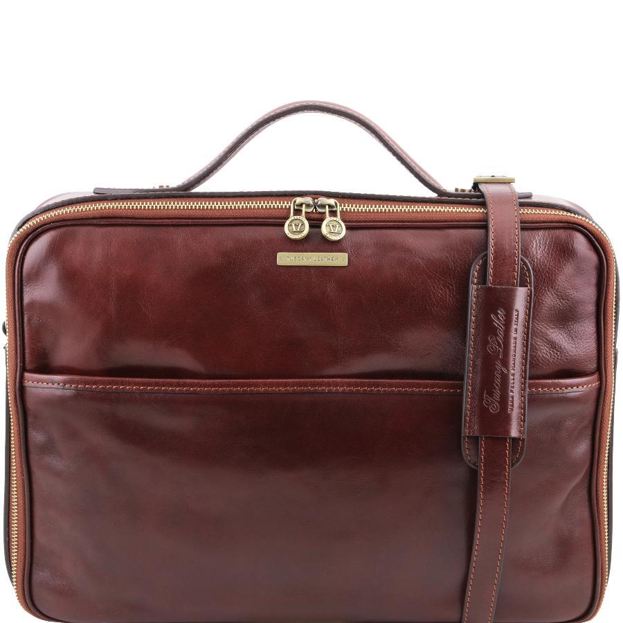 Meilleur de tous Sacoche Cuir Poche Ordinateur - Tuscany Leather - IV36