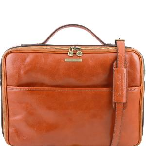 Sacoche Cuir Poche Ordinateur Miel  - Tuscany Leather -
