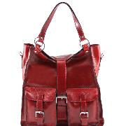 Grand Sac Cuir Femme Rouge - Tuscany Leather -