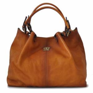 bfab1b1b94 Grand Sac Cabas Cuir Style Vintage pour Femme Cognac -PRATESI-