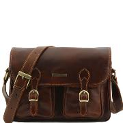 Sacoche Besace Cuir Vintage Marron -Tuscany Leather-