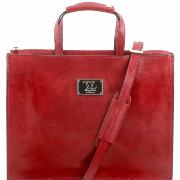 Serviette Cuir Femme Rouge -Tuscany Leather-