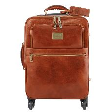 Trolley Cuir 4 Roues Pivotantes - Tuscany Leather -