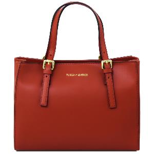 Leather Cabas Femme Cuir Rouge Sac Tuscany uJcK1T3lF