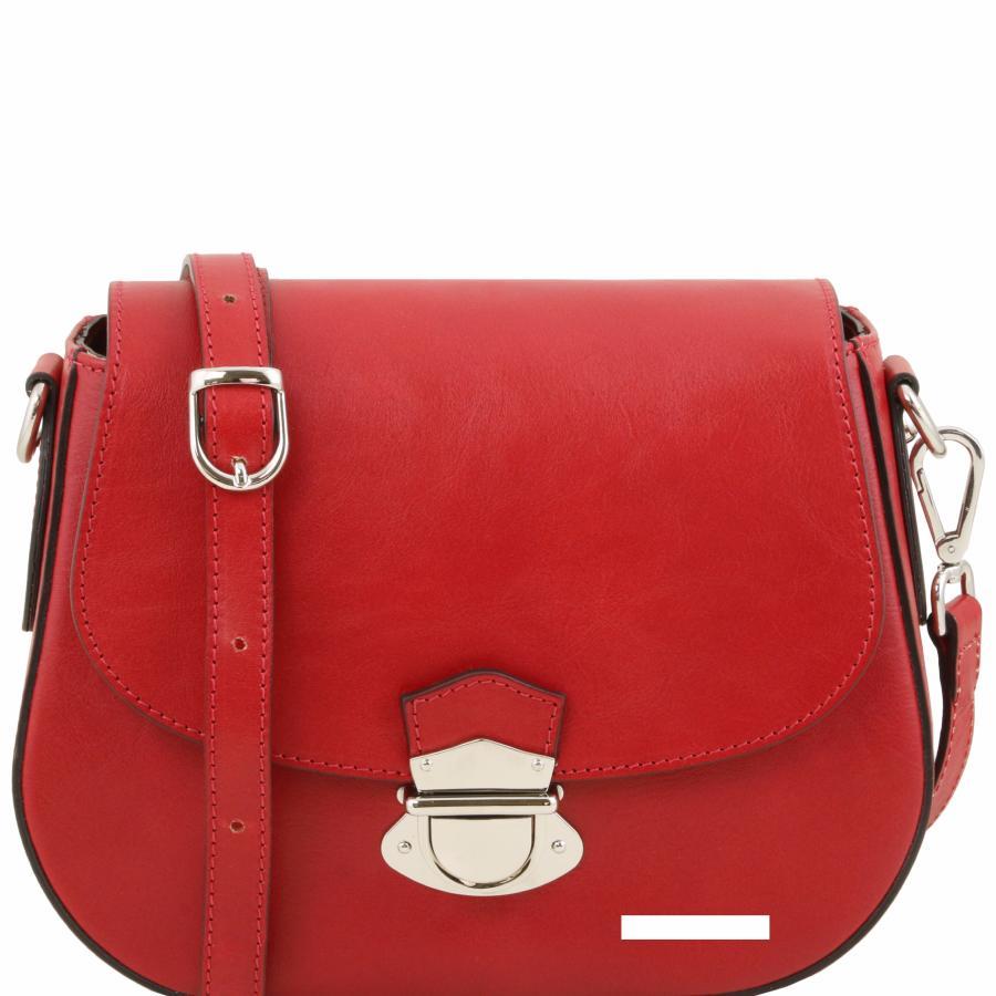 sac bandoulière rouge cuir 9b68ba