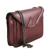 Sac Chainette Cuir Femme Bordeaux - Tuscany Leather -
