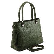 Sac Cuir Motifs Femme Atena Vert -Tuscany Leather-