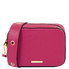 Sac Bandoulière Cuir Femme Rose - Tuscany Leather -