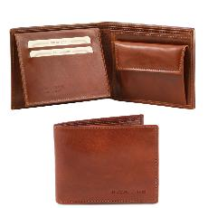 Portefeuille/Porte Monnaie Cuir Homme Marron -Tuscany Leather-