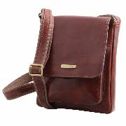 Sacoche Bandoulière Cuir Homme Marron - TUSCANY LEATHER -
